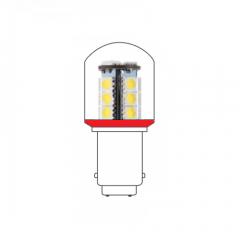 LED lamp BA15D 24VAC/DC rood