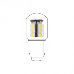 LED lamp BA15D 230VAC wit