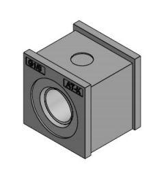 """AT-K-Z 1/8"""" tule, klein met schroefdraad, IP66, grijs"""