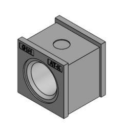 """AT-K-Z 1/4"""" tule, klein met schroefdraad, IP66, grijs"""