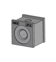 AT-K-M 8x0,5 tule, klein met schroefdraad, IP54, grijs