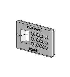 KEL-QTA 10/1 - DP 18 B QUICK kabelinv.plug,wand 1.5-2.5,IP54