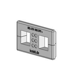 KEL-QTA 10/2 - DP 6 A QUICK kabelinv.plug, wand 2.8-4mm,IP54