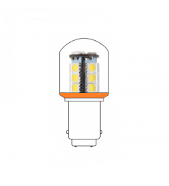 LED lamp BA15D 24VAC/DC oranje