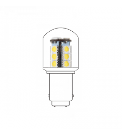 LED lamp BA15D 24VAC/DC wit