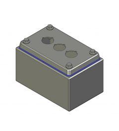 HD Drukknopkast 82mm 142mm D.89mm 3 gaten M22