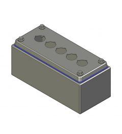 HD Drukknopkast 90mm 200mm D.85mm 5 gaten M22