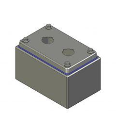 HD Drukknopkast 90mm 140mm D.85mm 2 gaten M22
