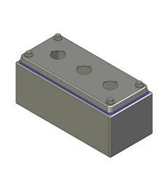 HD Drukknopkast 90mm 200mm D.85mm 3 gaten M22