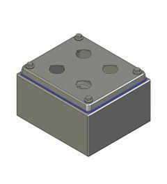 HD Drukknopkast 130mm 150mm D.85mm 4 gaten M22