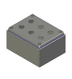 HD Drukknopkast 190mm 150mm D.100mm 6 gaten M22