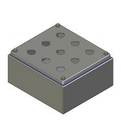 HD Drukknopkast 210mm 190mm D.100mm 6 gaten M22