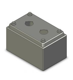 Drukknopkast 90mm 140mm D.85mm 2 gaten M22