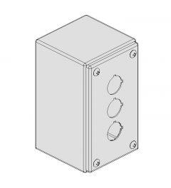 Pushbutton Box 142x82x86mm 3-holes