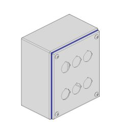 Pushbutton box Hygienic 132x152x89mm 6-holes IP66/IP69K