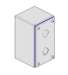 Pushbutton box Hygienic 82x142x89mm 2-holes  IP66/IP69K