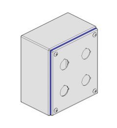 Pushbutton box Hygienic 132x152x89mm 4-holes IP66/IP69K