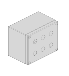 PS Drukknopkast 190mm 150mm D.125mm 6 gaten M22