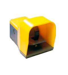 Voetschakelaar geel kunststof behuizing 1NO+1NC