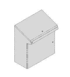 QP lectern 800x950x400mm AISI304