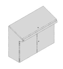 QP lectern 1200x950x400mm AISI304